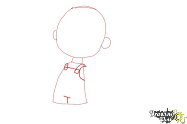 How to Draw Pig Pen from The Peanuts Movie - Step 3