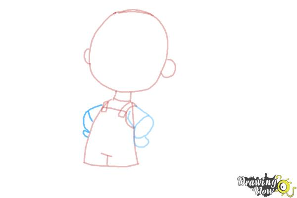 How to Draw Pig Pen from The Peanuts Movie - Step 5