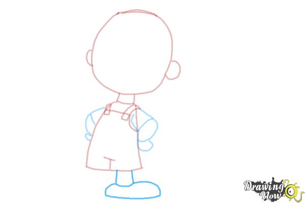 How to Draw Pig Pen from The Peanuts Movie - Step 6