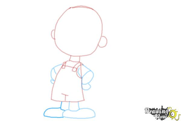How to Draw Pig Pen from The Peanuts Movie - Step 7