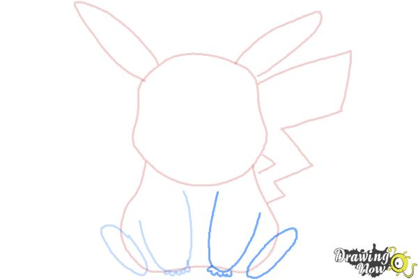 How to Draw Pikachu Easy - Step 6