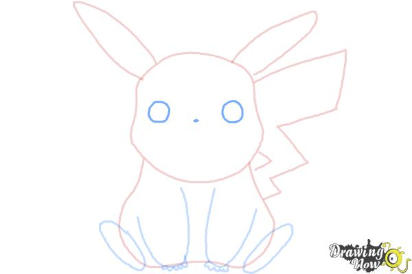 How to Draw Pikachu Easy - Step 7