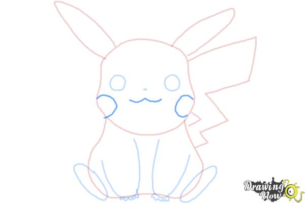 How to Draw Pikachu Easy - Step 8