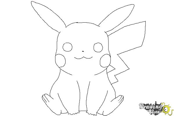 how to draw pikachu easy step 9