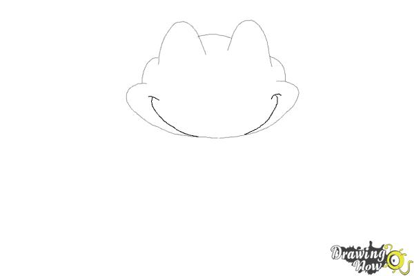 How to Draw a Frog Step by Step - Step 3