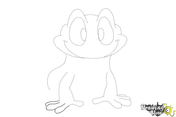How to Draw a Frog Step by Step - Step 8