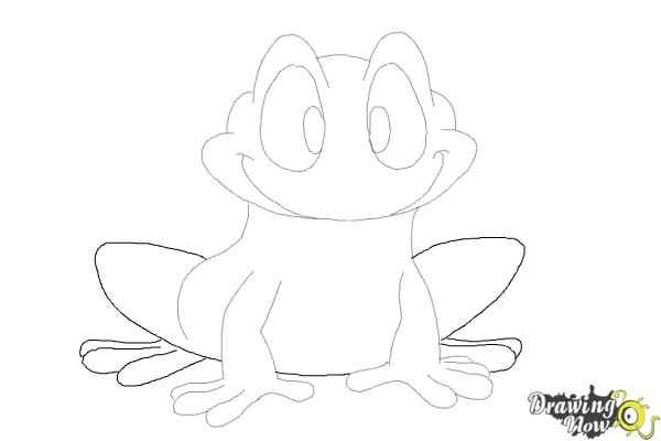 How to Draw a Frog Step by Step - Step 9