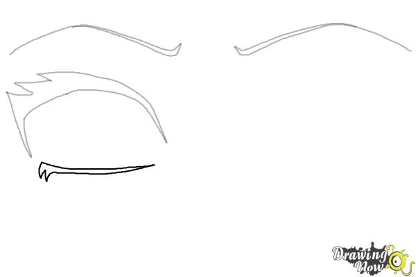 How to Draw Anime Eyes Step by Step - Step 3
