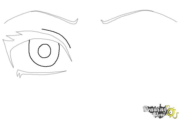 how to draw anime eyes step by step step 4