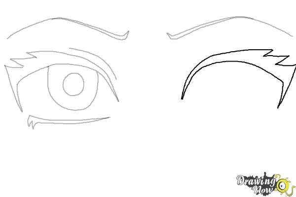 How to Draw Anime Eyes Step by Step - Step 5