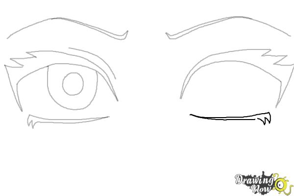 How to Draw Anime Eyes Step by Step - Step 6