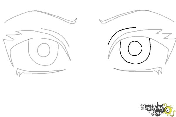 How to Draw Anime Eyes Step by Step | DrawingNow