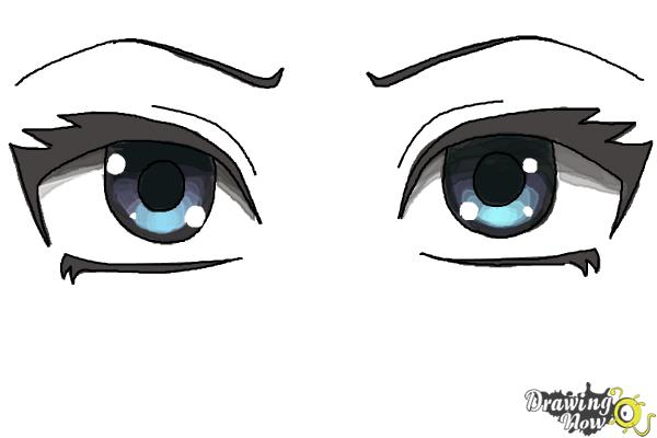 How to draw anime eyes step by step step 8