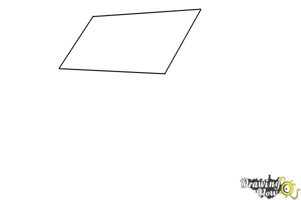 How to Draw a House Step by Step - Step 1