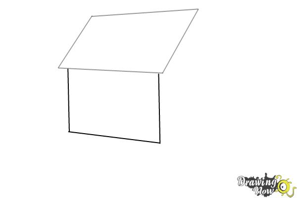 How to Draw a House Step by Step - Step 2