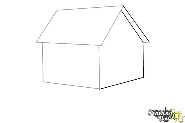 How to Draw a House Step by Step - Step 3