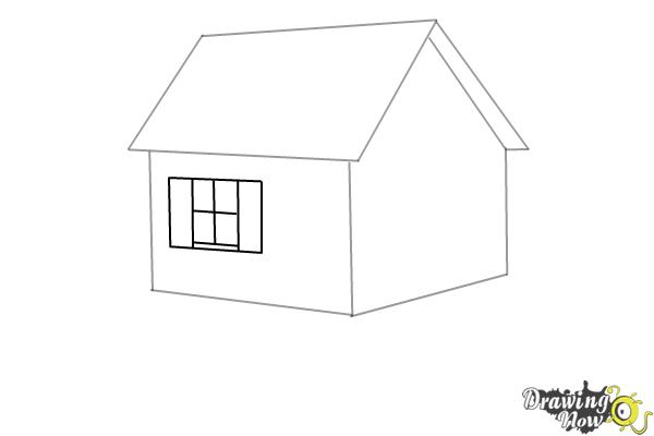 How to Draw a House Step by Step - Step 4