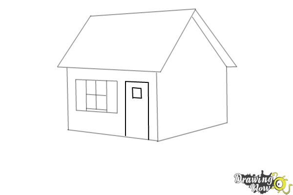 How to Draw a House Step by Step - Step 5