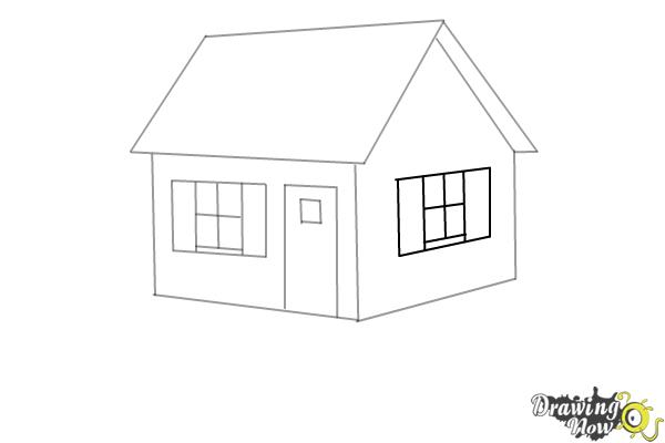 How to Draw a House Step by Step - Step 6