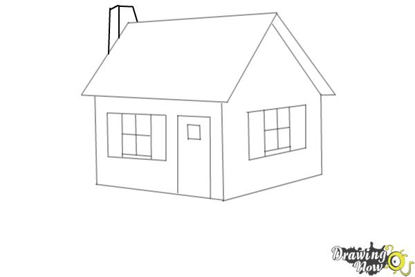 How to Draw a House Step by Step - Step 7
