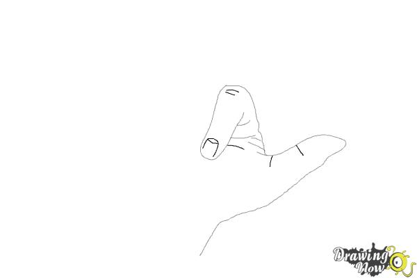 How to Draw a Hand - Step 4