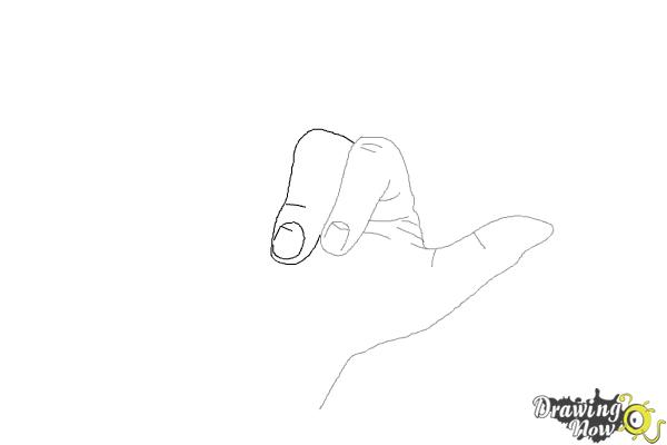 How to Draw a Hand - Step 5