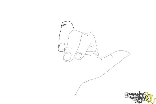 How to Draw a Hand - Step 6