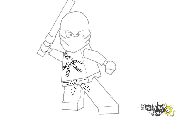 How to Draw Kai from Lego Ninjago - Step 10