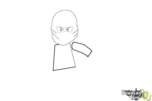 How to Draw Kai from Lego Ninjago - Step 3