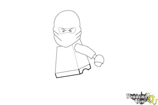 How to Draw Kai from Lego Ninjago - Step 5