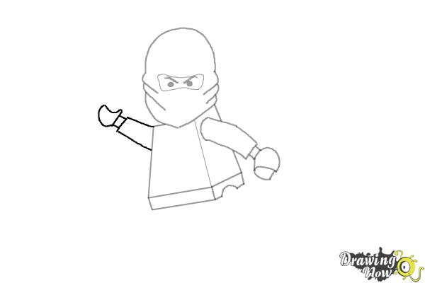How to Draw Kai from Lego Ninjago - Step 6