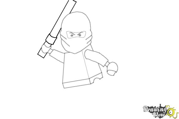 How to Draw Kai from Lego Ninjago - Step 7