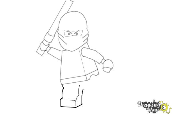 How to Draw Kai from Lego Ninjago - Step 8