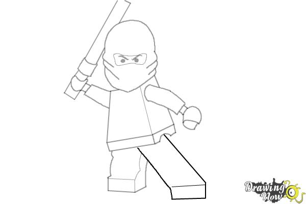 How to Draw Kai from Lego Ninjago - Step 9