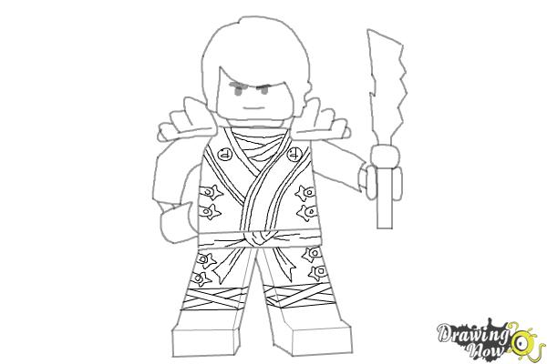 How to Draw Cole from Lego Ninjago - Step 10
