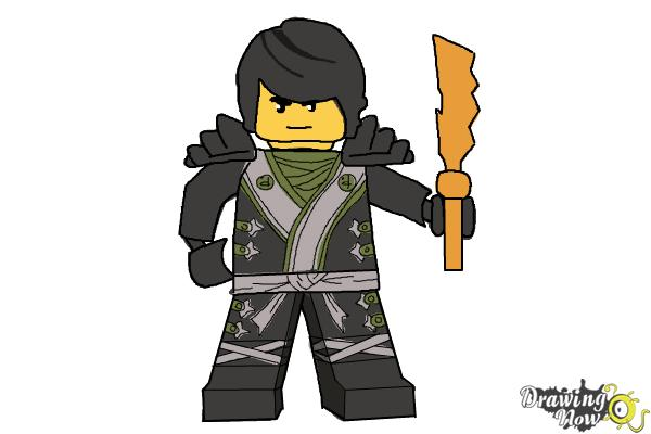 How to Draw Cole from Lego Ninjago - DrawingNow