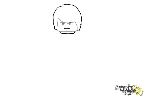 How to Draw Cole from Lego Ninjago - Step 2
