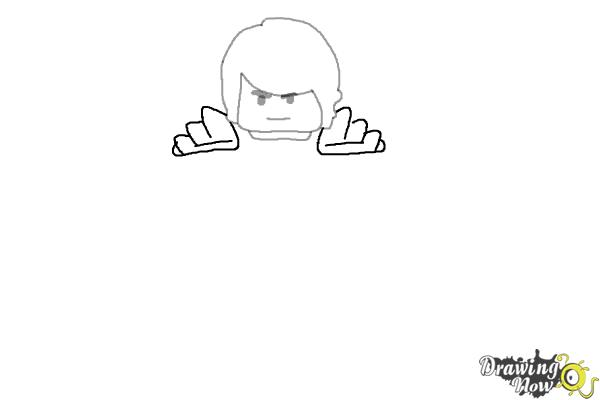 How to Draw Cole from Lego Ninjago - Step 3