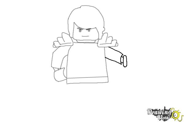 How to Draw Cole from Lego Ninjago - Step 6