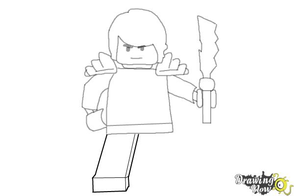 How to Draw Cole from Lego Ninjago - Step 8