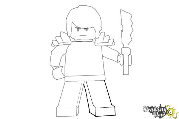 How to Draw Cole from Lego Ninjago - Step 9