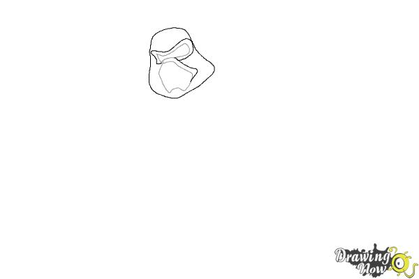 How to Draw Kylo Ren from Star Wars VII - Step 2