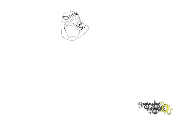 How to Draw Kylo Ren from Star Wars VII - Step 3