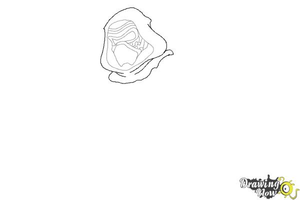 How to Draw Kylo Ren from Star Wars VII - Step 4