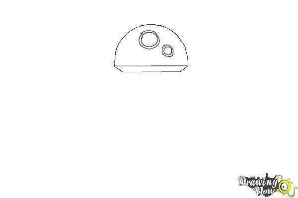 How to Draw BB-8 from Star Wars VII - Step 1