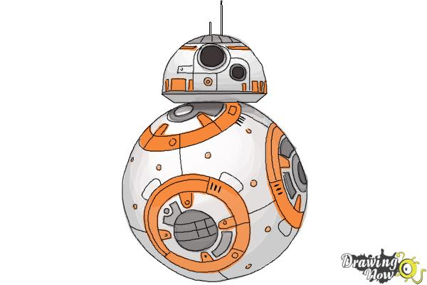 How to Draw BB-8 from Star Wars VII - Step 10