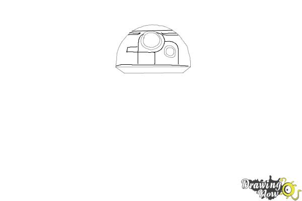 How to Draw BB-8 from Star Wars VII - Step 2