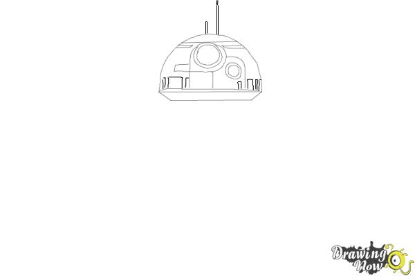 How to Draw BB-8 from Star Wars VII - Step 3