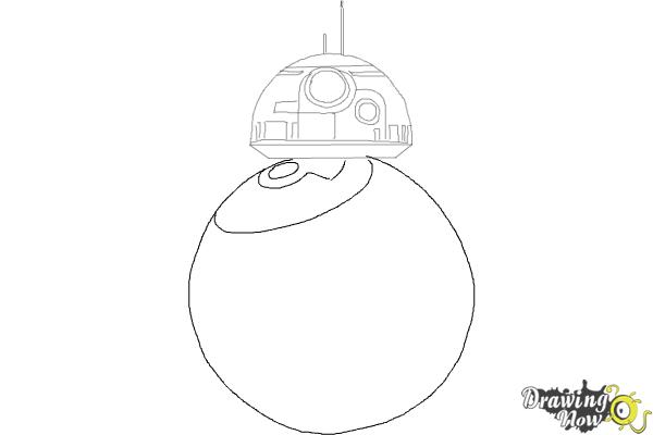 How to Draw BB-8 from Star Wars VII - Step 4