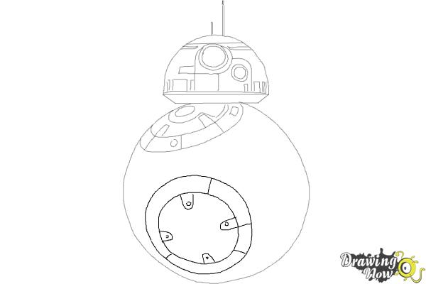 How to Draw BB-8 from Star Wars VII - Step 6